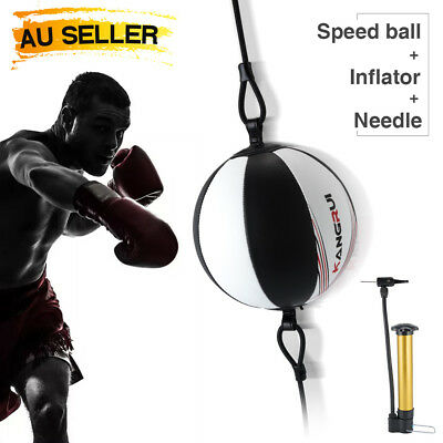 Leather Double End Dodge Speed Ball MMA Boxing Ball Floor to Ceiling Punch Bag