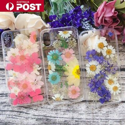 Pressed Flowers Dried Real Soft Case Cover for IPhone 6/s/7/8/Plus/X/XS/XR/MAX