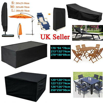 8Size Garden Patio Furniture Rectangle Cube Furniture Set Cover Waterproof Table