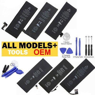 OEM Replacement Original for iPhone 4 4S 5 5C 5S 6 6S 7 Plus +Tools Kit  Battery
