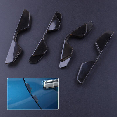 4pcs Coffee Car Door Edge Guards Trim Molding Protection Strip Scratch Protector