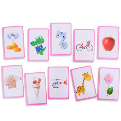 36pcs/Card Flash Cards Learn English Word Number Baby Literacy Game Educational