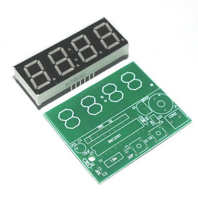 1set Digital Electronic C51 4 Bits Clock Electronic Production Suite DIY Kits
