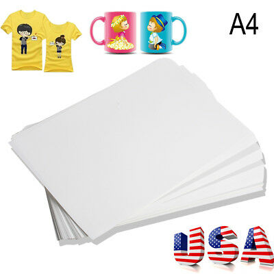 100* A4 Sublimation ink Heat Transfer Paper for Inkjet Printer Mug Plate T-shirt
