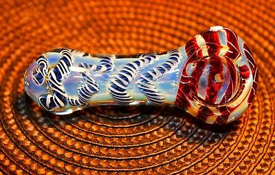 "4"" Twist Different Color TOBACCO Smoking Pipe Herb bowl Glass Hand Pipes"