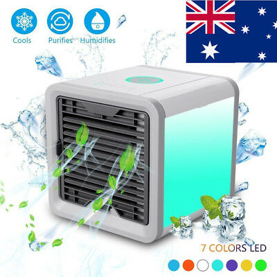 AU NEW Portable Mini Air Conditioner Cool Cooling For Bedroom Artic Cooler Fan