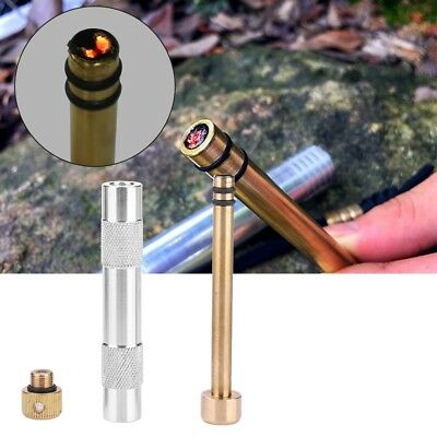 Aluminum Alloy Outdoor Fire Piston Starter Ignition Air Camp Survival Emergency