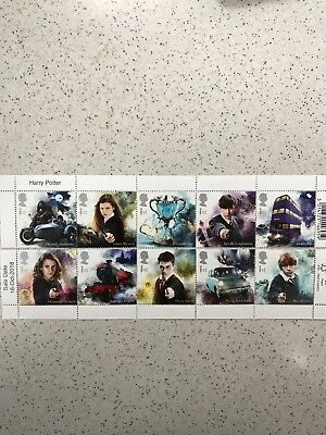 HARRY POTTER - Royal Mail Stamps -  Set of Ten Special Stamps 2018