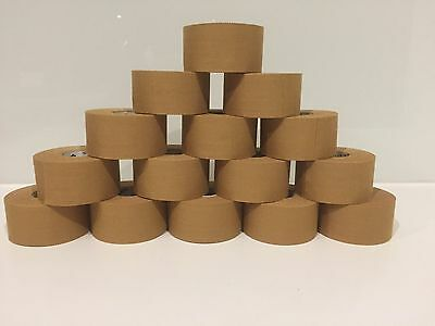 Strapping Tape 12 Rolls X 38mm X 13.7M, Premium RIGID Sports Strapping Tape,