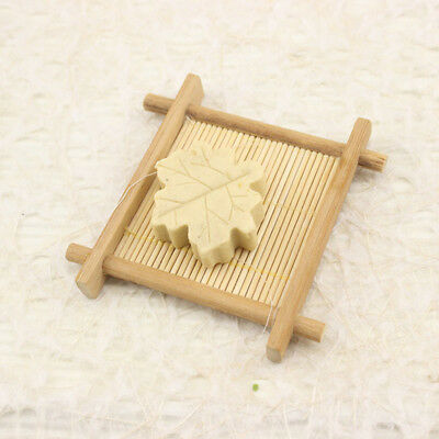 Natural Bamboo Wood Bathroom Shower Soap Tray Dish Storage Holder Plate Kitchen
