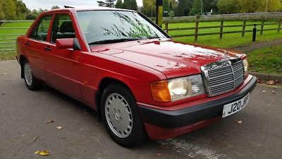 MERCEDES 190 D 2.5 Red Auto Diesel, 1992 62500 Miles Ac Leather 190D