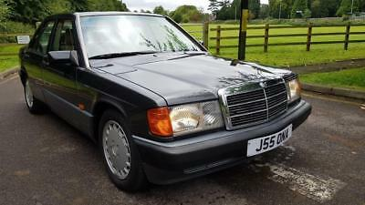 MERCEDES 190 E 2.0 Black Auto Petrol, 1992  W201 79000Miles Leather Ac