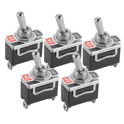 SPST 2Pin Heavy Duty 20A 125VAC ON/OFF Rocker Toggle Switch Pack of 5 BI1030
