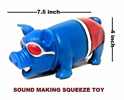 Squeezy Blue Pig Squishy Squeeze Noise Making Stress Relief Gift Toys