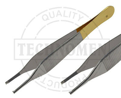 12cm TC TUNGSTEN CARBIDE ADSON 1X2 TOOTHED KOCHER DISSECTING FORCEPS TWEEZERS