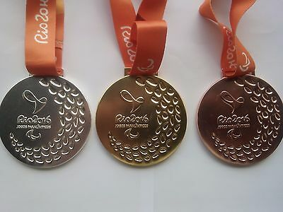 2016 Rio Paralympic Olympic Set Medals Gold/silver Bronze With Ribbons!