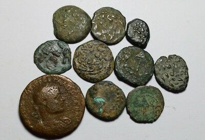 Lot Of 10 Bronze Roman Coins  //557