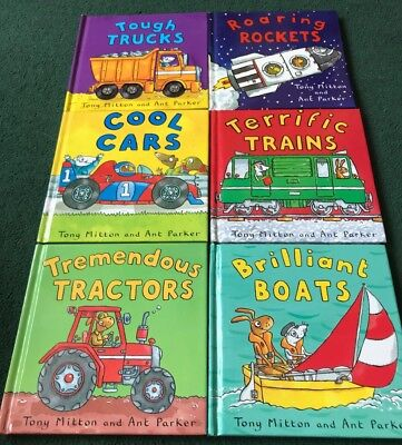 6 Children's vehicles books Author Tony Mitton & Ant Parker