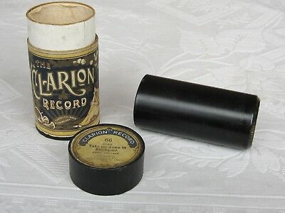 Clarion Phonograph Cylinder Record ~ Music Hall song ~ Miss Eva Terry
