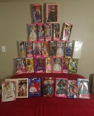 Barbie   Dolls  Lot of 29 Collectibles  Mattel  New in original box