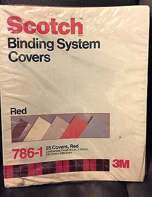 Scotch Binding System Covers 786-1 Red, 25 Covers 9 1/8 in x 11 3/8 in