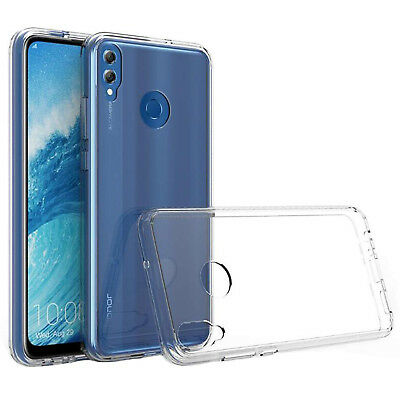 FOR HUAWEI HONOR 8X Case Crystal Clear Transparent Best Silicone Gel Phone  Cover