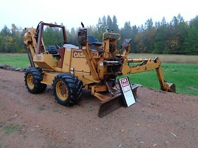 CASE  760 trencher  backhoe. cable plow. 6 way blade . 4 wheel steer.
