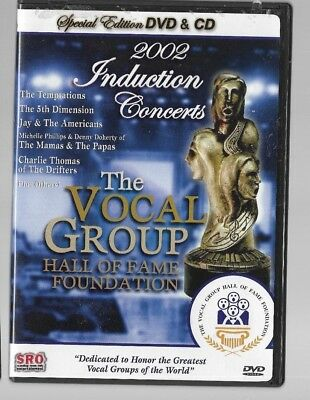 Vocal Group Hall of Fame Vol. 2 2002 INDUCTION CONCERTS THE TEMPTATIONS DVD + CD