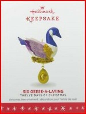 2016 Hallmark SIX GEESE A LAYING the Twelve Days of Christmas Dated ORNAMENT #6