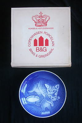 Vintage B&G 1971 Mother's Day Plate with Original Box, Cats