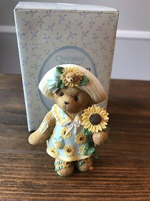 "Cherished Teddies Cassi ""I Picked A Little Sunshine For You"" Figurine 118822"