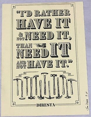 "Jimmy Diresta - Letterpress Poster ""I'D RATHER HAVE IT"""