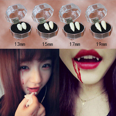Bloodcurdling Vampire Werewolves Fang Fake Dentures Teeth Costume HalloweenRAS