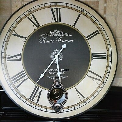 Extra Large French Shabby Chic Wall Clock 58cm Antique Vintage Style & Boxed