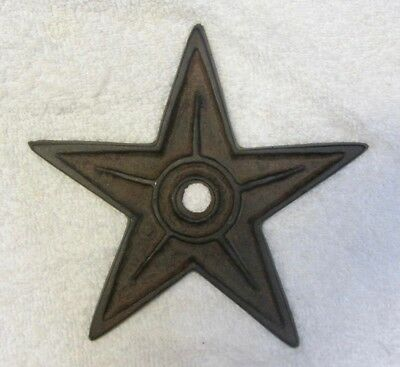 """Vintage Rustic CAST IRON STAR Architectural Building Metal Stress Washer 6 3/4"""""""