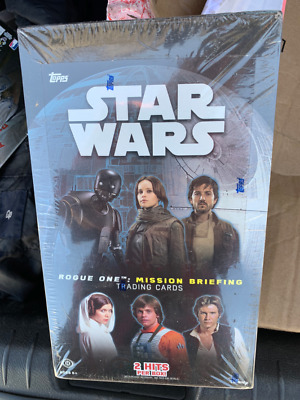 """2016 Topps Star Wars """"Rogue One"""" Series 1 Factory Sealed Hobby Box 2 Hits"""