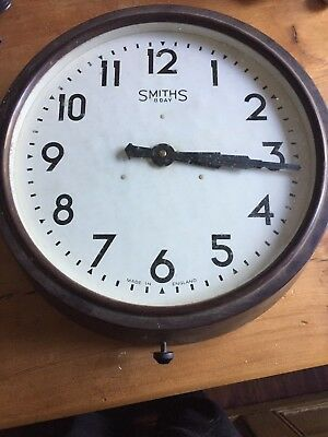 Antique Vintage Bakelite Smiths 8 Day Wall Clock Working Order