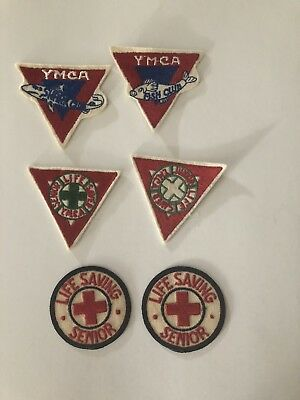 6 Vintage YMCA Embroidered Patches NOS