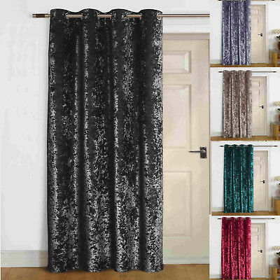 """Agra"" Thermal Self Lined Crush VELVET Winter Door Curtain"