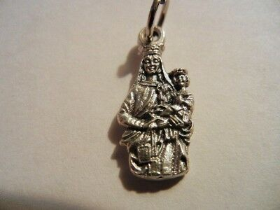 "Our Lady of Mount Carmel Mini Medal 3/4"" tall  NEW!  Made in Italy!+"