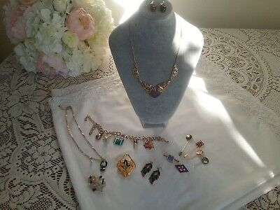 Mixed Lot Of Vintage & Modern Enamalled Jewellery, Includes Some Silver.