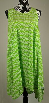 American crown One Size Fits Most Green White Dress Cover Up