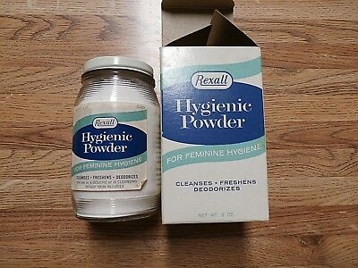 Vintage Rexall Hygienic Powder with Original Packaging
