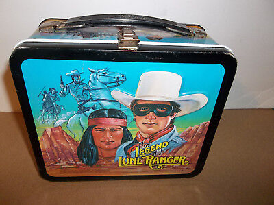 """Vintage 1980 The Legend Of The Lone Ranger ALADDIN Metal Lunchbox """"No Thermos"""""""