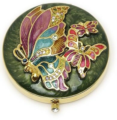 """Estee Lauder Strongwater Solid Perfume Powder Compact """"Butterfly Dream"""""""