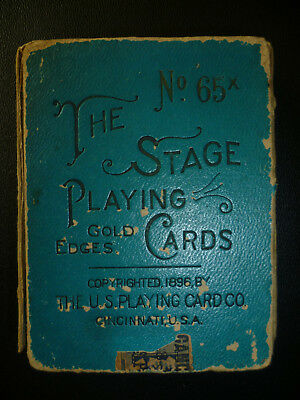 The Stage Playing Cards Gold Edges Copyrighted 1890  U.s.a.  1A!!!