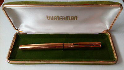 waterman plaque oro nib 18k FP
