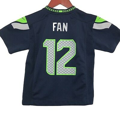 dc9c9258283 NIKE SEATTLE SEAHAWKS  12 12th Man nfl FAN Jersey YOUTH KIDS BOYS (M ...