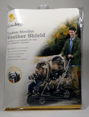 Baby Stroller Rain Cover Weather Shield Jeep Universal Tandem Air Hole Ventilate
