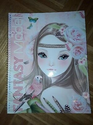 Fantasy Model Stickerheft, Top Model Malbuch Stickerbuch, Depesche 7888_B,